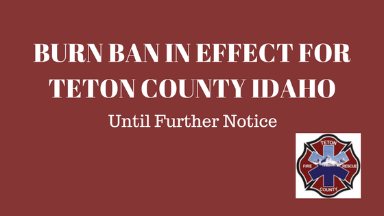FOR IMMEDIATE RELEASE – BURN BAN