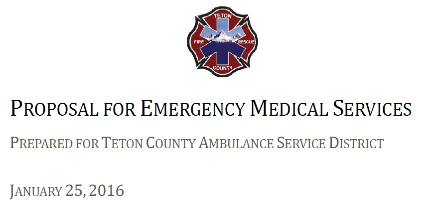 Fire District Proposal For Emergency Medical Services